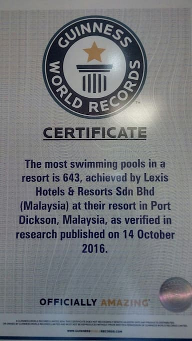 Guinness World Record for Most Swimming Pools
