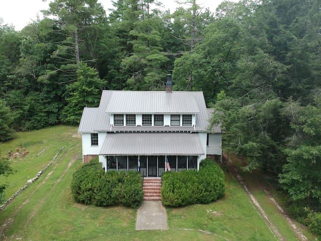 Beautiful Mountain Home on secluded 10 acres, lawn, woods in the heart of Cedar Mountain close to Dupont, Brevard, waterfalls and biking