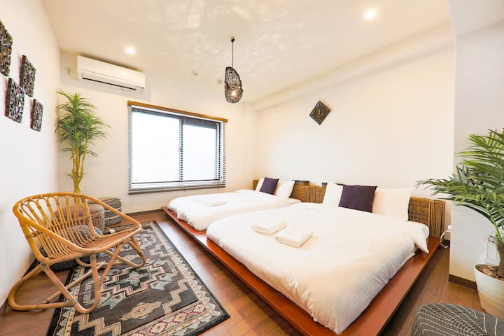 Asian Resort Style 2F House in Heart of Shibuya!