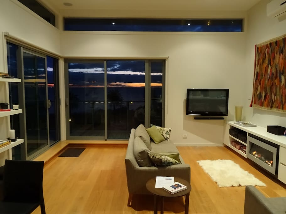 Relaxed open plan living.