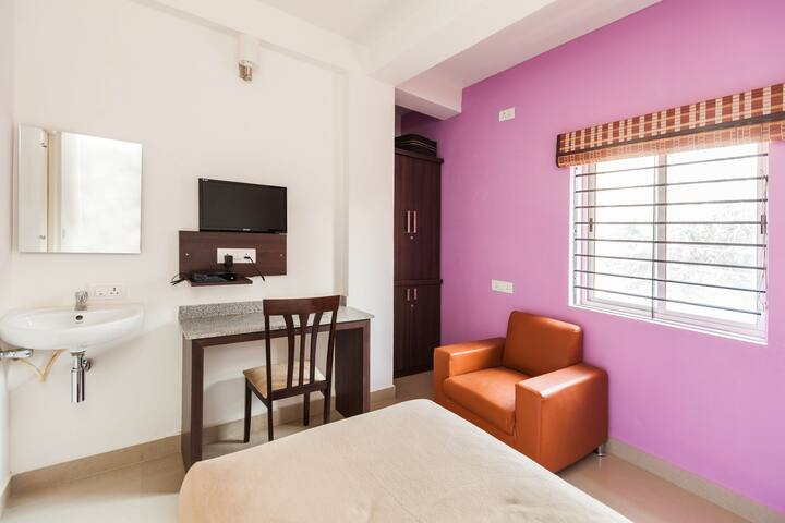 Topaz AC Single Room, Ebenezer Suites, Whitefield