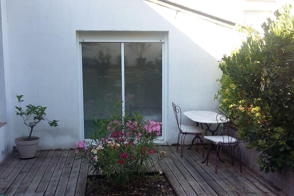 petite terrasse pour se reposer