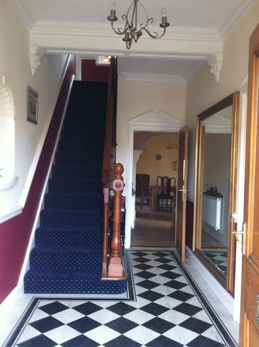 Delightful entrance hall leading to reception rooms, kitchen and dining room