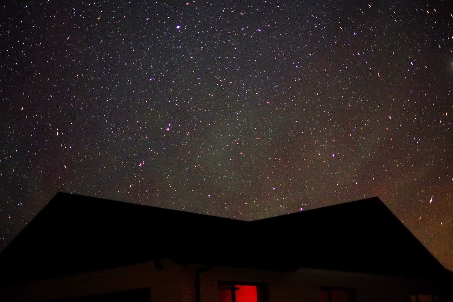 The beautiful night sky on a clear night from our back lawn