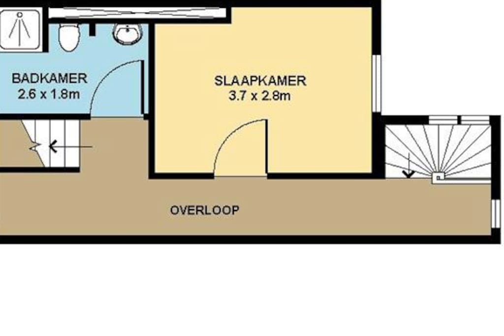 Floor plan of your room and shared bathroom