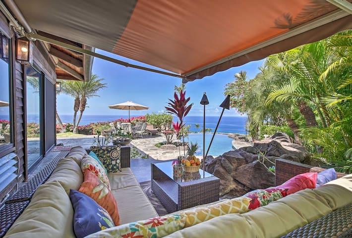 Lush Kailua-Kona House w/ Infinity Pool+Lanai