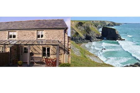Charming Cornish barn near Padstow - Saint Merryn - Haus