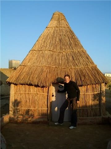 Single person wooden hut