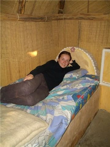 Bed in hut