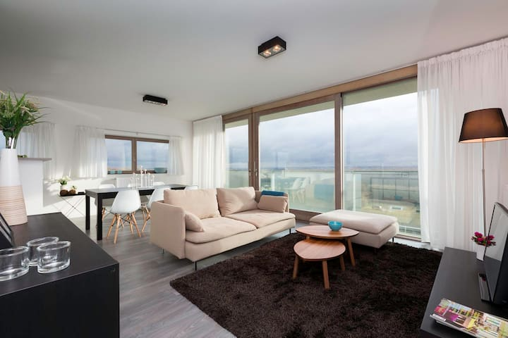 3 bedroom apartment with beautiful views of Bxl - Vilvoorde - Apartament