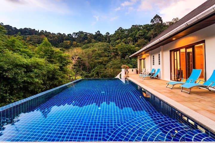 BBK -  Private pool waterfall jungle villa in Kathu - FREE MOTORBIKE
