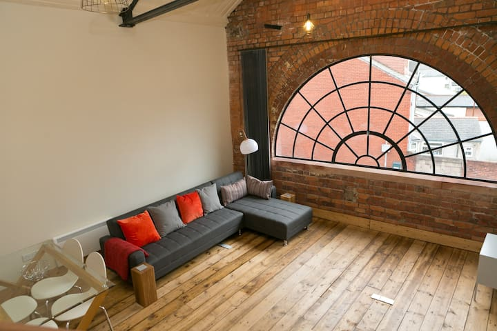 Super central Cardiff loft - 1 bed sleeps 4 - Cardiff - Apartament