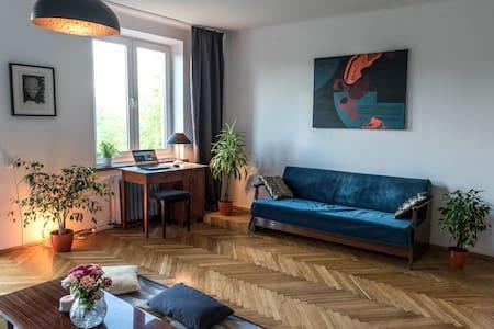 Bright and Spacious Vintage Apartment in Kazimierz - Kraków - Leilighet
