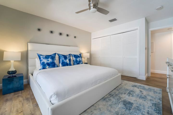 Spacious Suite Two Features King Bed + Two Nightstands + Full Size Closet + Samsung 4K Smart Streaming TV + Private Terrace Lounge Access...