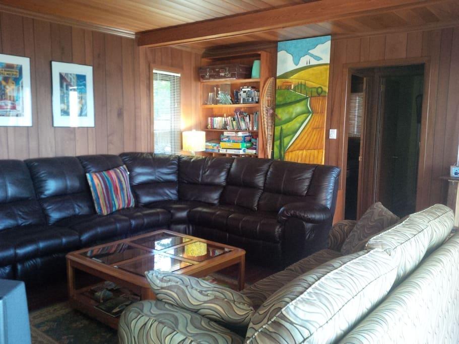 living room, plush sofas