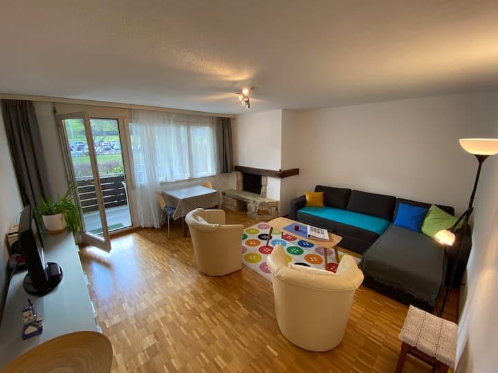 modern 2-room flat with balcony