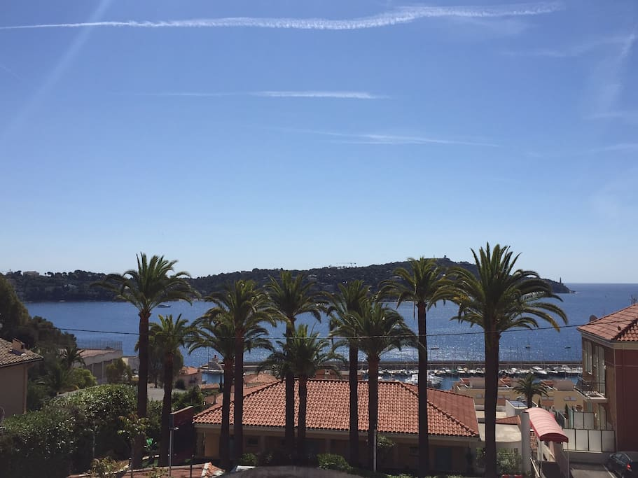 View on Villefranche Bay and Saint-Jean-Cap-Ferrat Cape