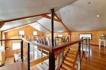 Second floor - living area & open loft bedroom