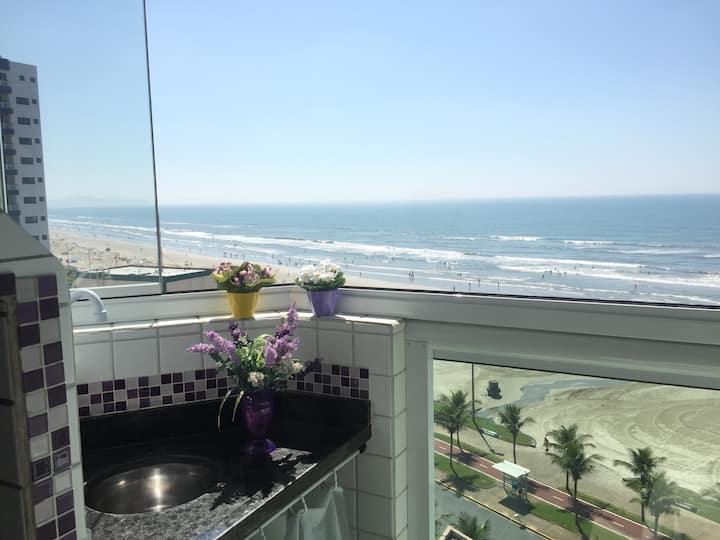 Apart Praia Grande  /churrasqueira/piscina/wi -fi