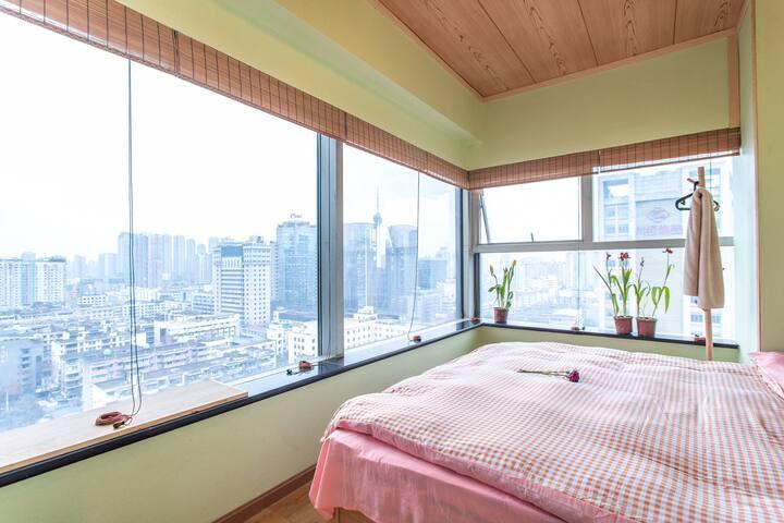 春熙路/IFS/太古里 日式度假舒适180度观景独立品质单间