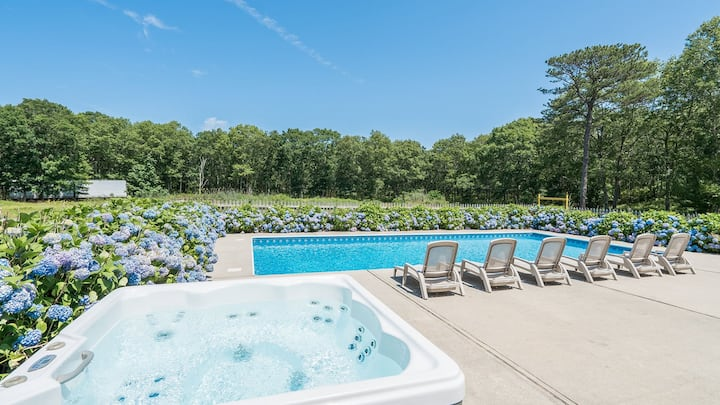 Amenities Galore: Southampton Home at the Edge of a 200-Acre Preserve, Huge Yard, Pool, Hot Tub