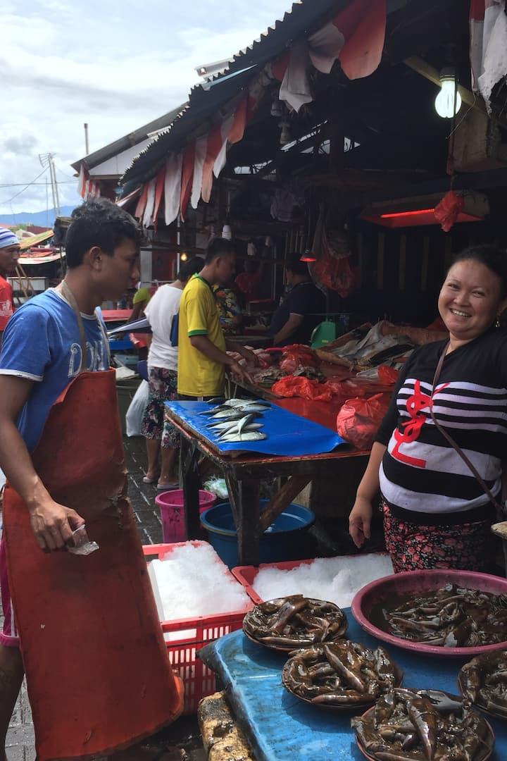 Fresh seafoods hunting