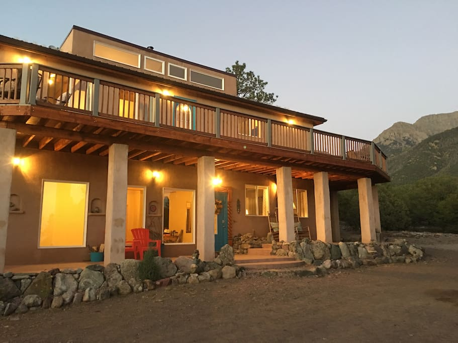 The wrap-around deck guarantees magnificent mountain and valley views.