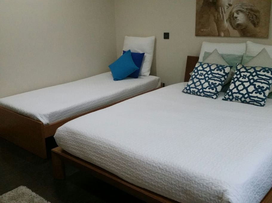 Cama de casal e cama de solteiro