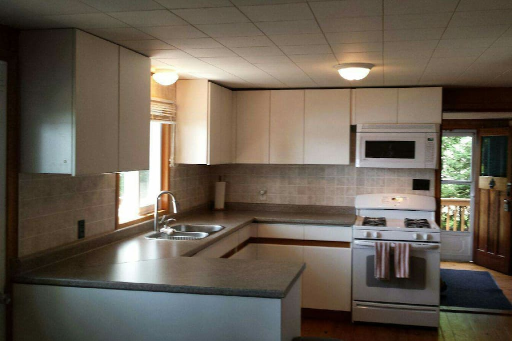 Newly renovated Kitchen...fully equipped  Built in Dishwasher, propane Stove, Range top Microwave