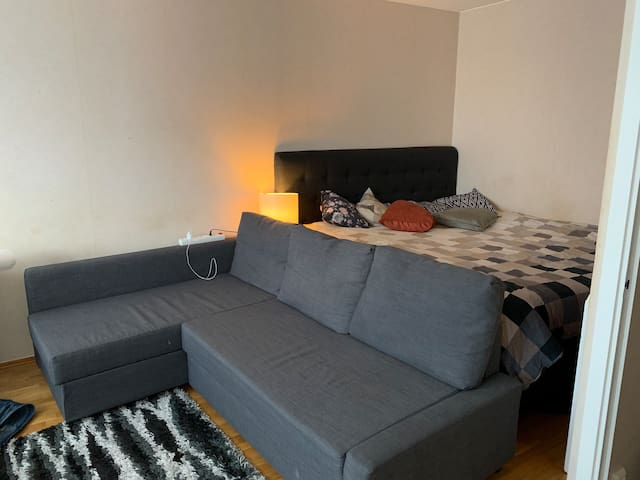 It's a nice apartment 38 min from  Stockholm city