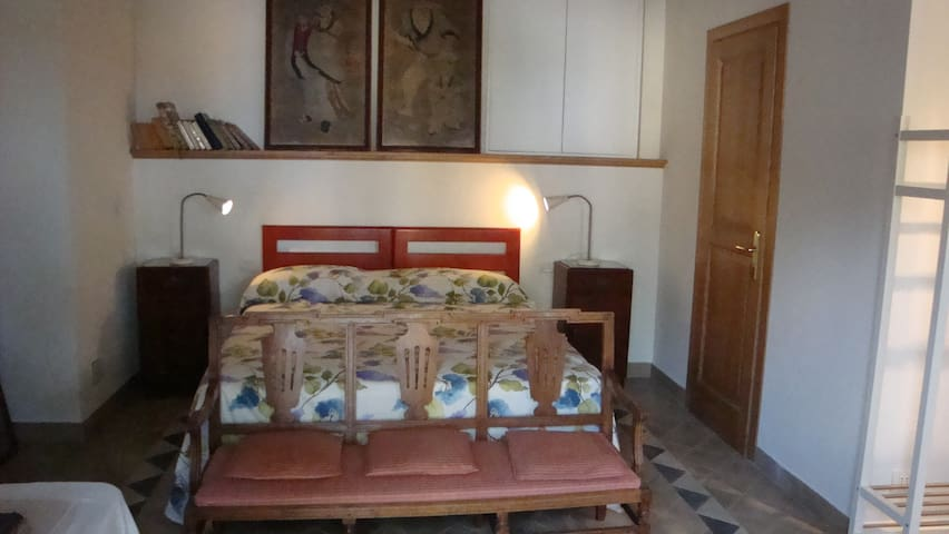 La Porticella room with bathroom and kitchenette