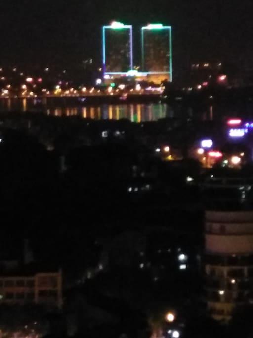 The Night Scene from you mini-balcony