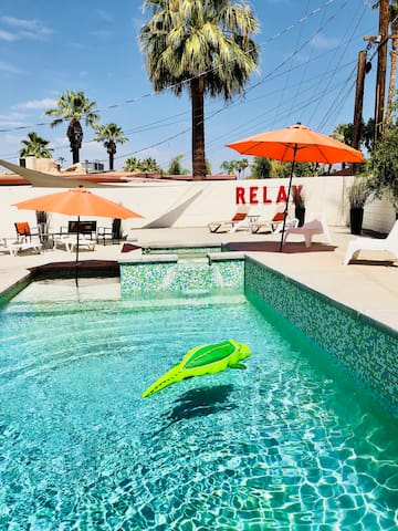 Desert Oasis with heated saltwater pool!