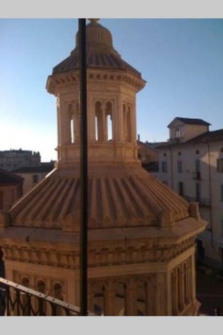 la vista della Bollente dal balcone di casa.