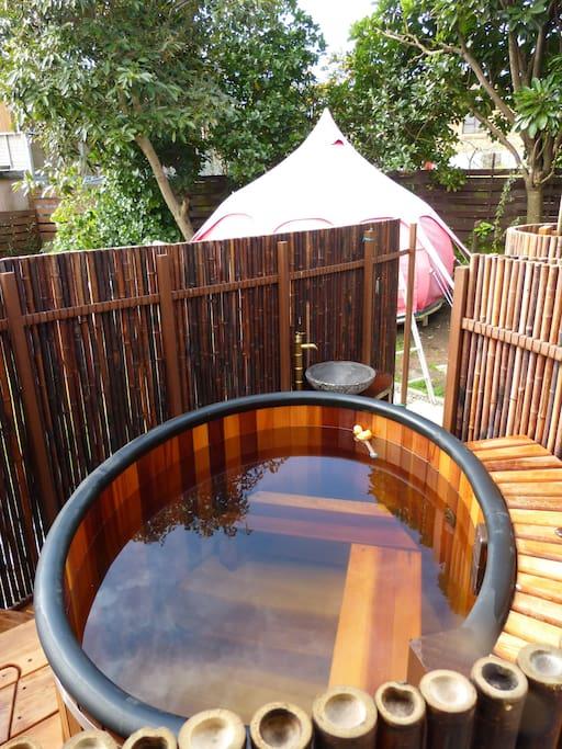 Cedar Wood Ofuro (Hot Tub)