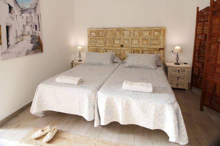 IDEAL PARA ENAMORADOS Y FAMILIAS PEQUEÑAS: Dos camas individuales y un sofá-cama en el loft Casa Recentar