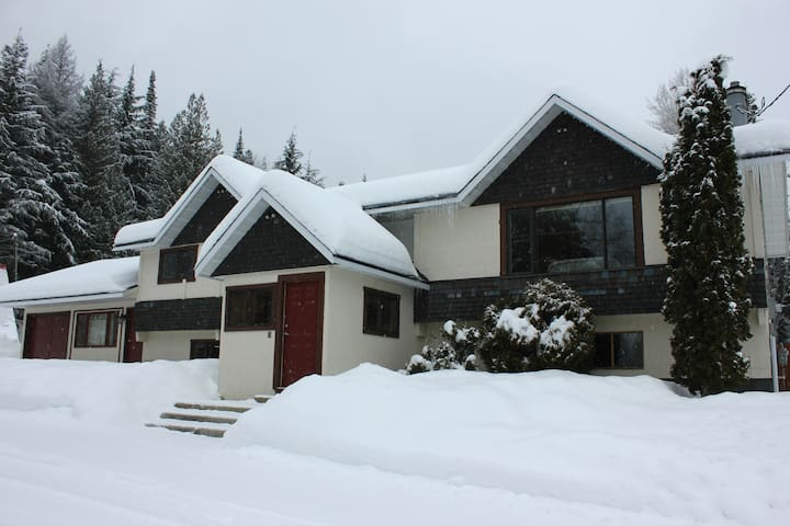 The largest home on Red Mountain, Rossland.