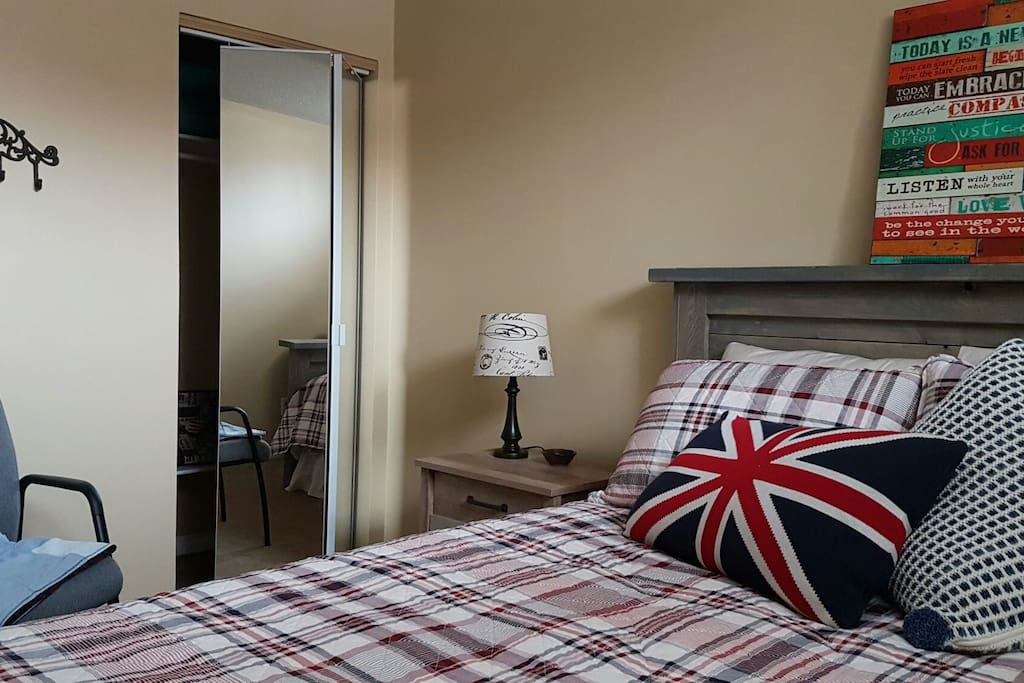 Accommodations include a private room with a queen size bed
