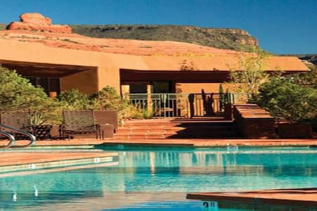 This scenic property is in the heart of Sedona, with walk to shops convenience.   What's better than spending President's Day/Valentines Day in Sedona?