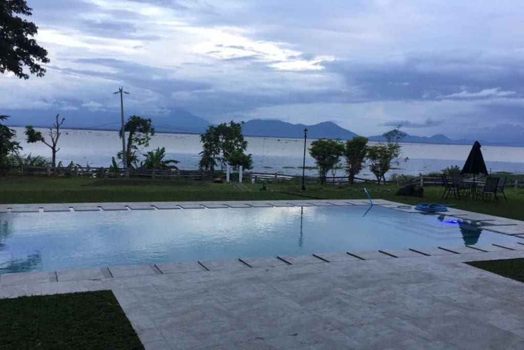 Pool Area with the View of Laguna de Bay, Mt. Banahaw and Mt. Makiling