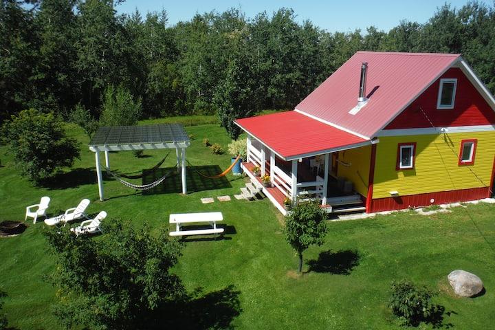 Farm Cottage near Steep Rock, MB