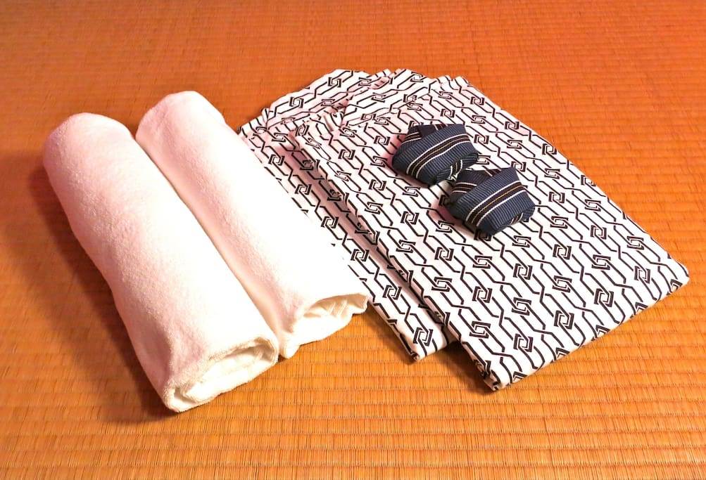 We provide towels, yukata and fresh linen