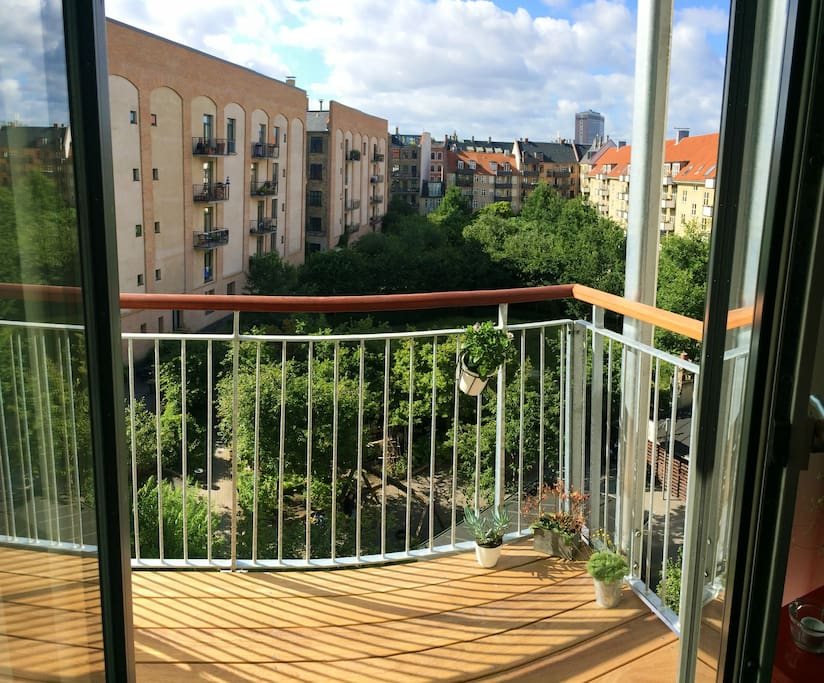 Enjoy the sun and a glass of cold white wine from our beautiful balcony
