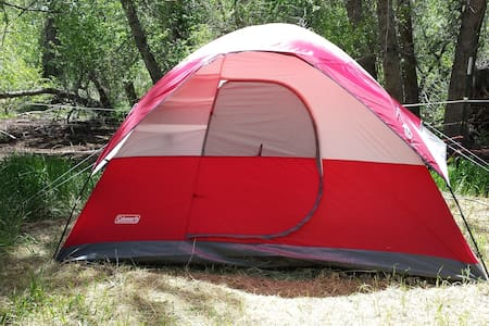 Tent w double and twin beds - Salida - Hus