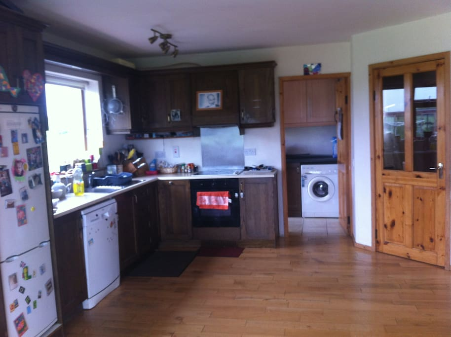 Functional kitchen with all facilities, dishwasher, utility and washing-machine