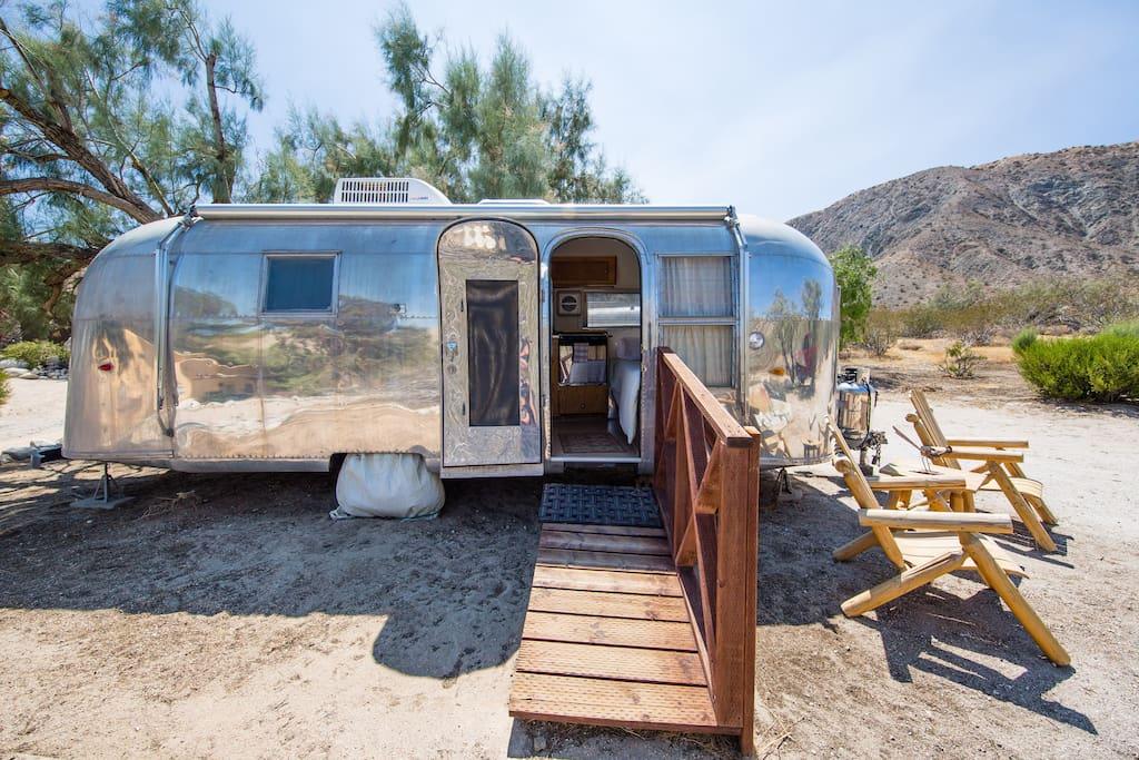 Airstream camping cars caravanes louer whitewater californie tats unis - Location caravane vintage ...