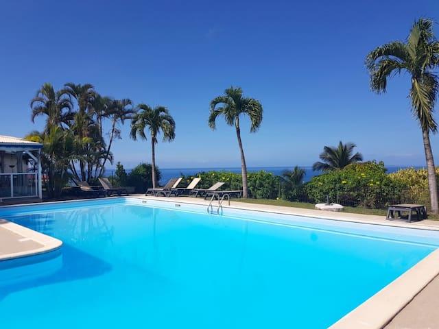 Petit paradis face à la mer des Caraibes