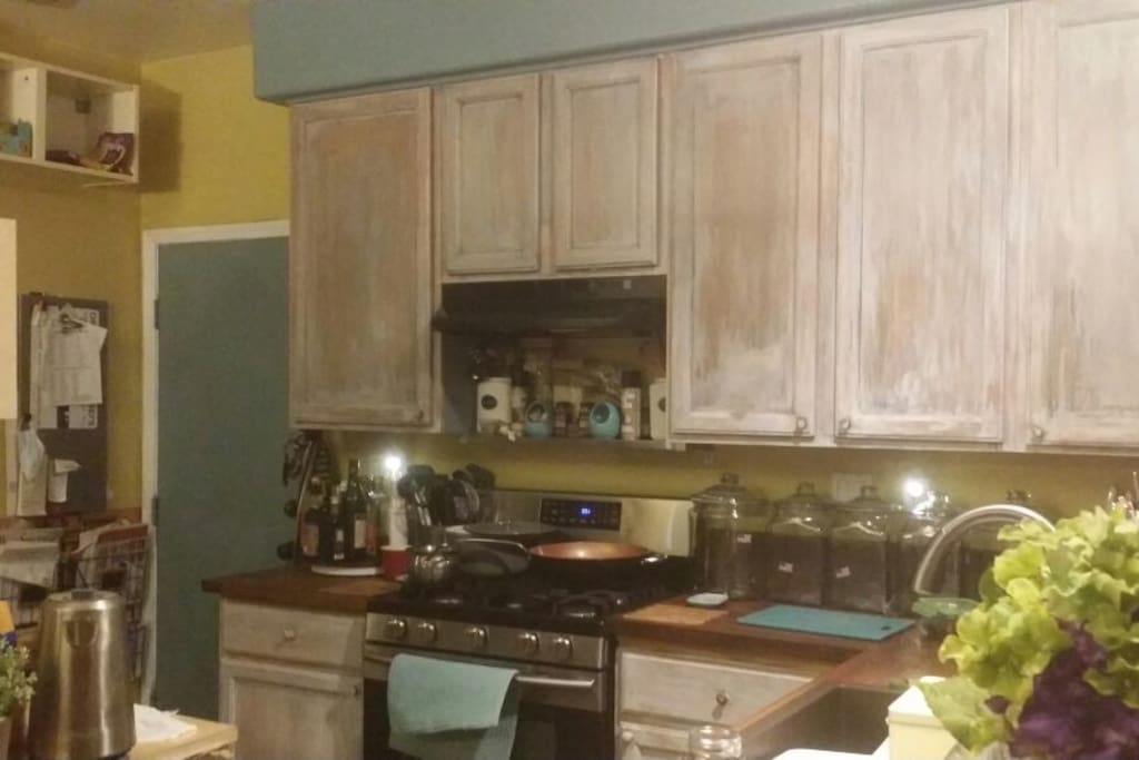 Highly used kitchen, not for show at all.