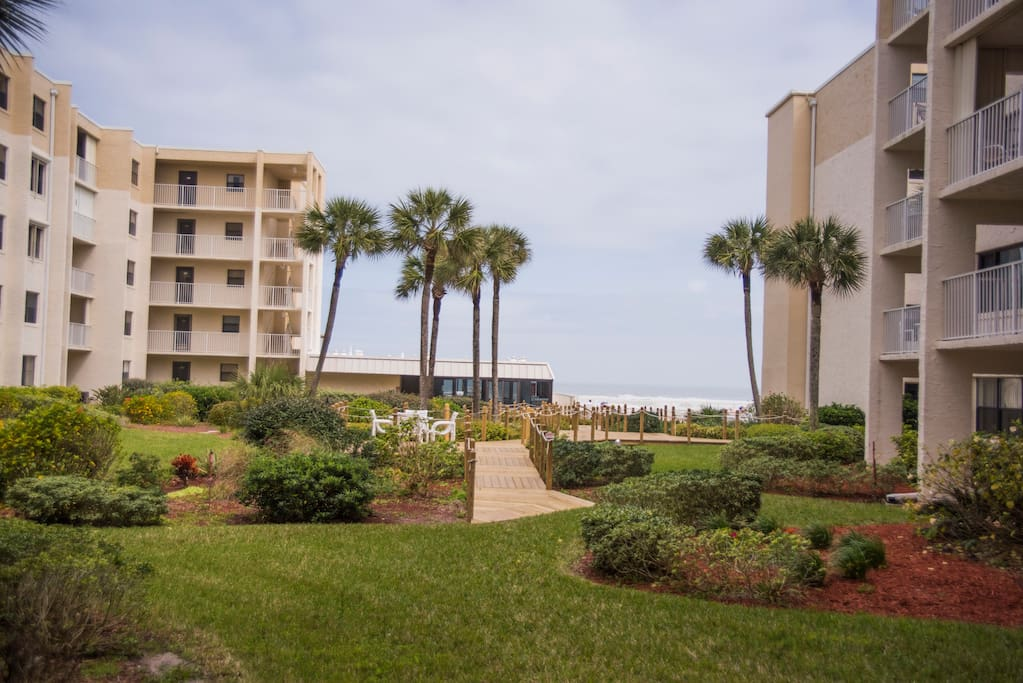 Walk out the condo door and you are on your way to one of the widest beaches in Florida through the Pool Deck