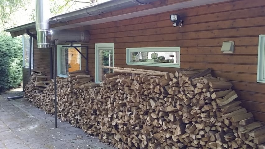 Woodcabin with fireplace